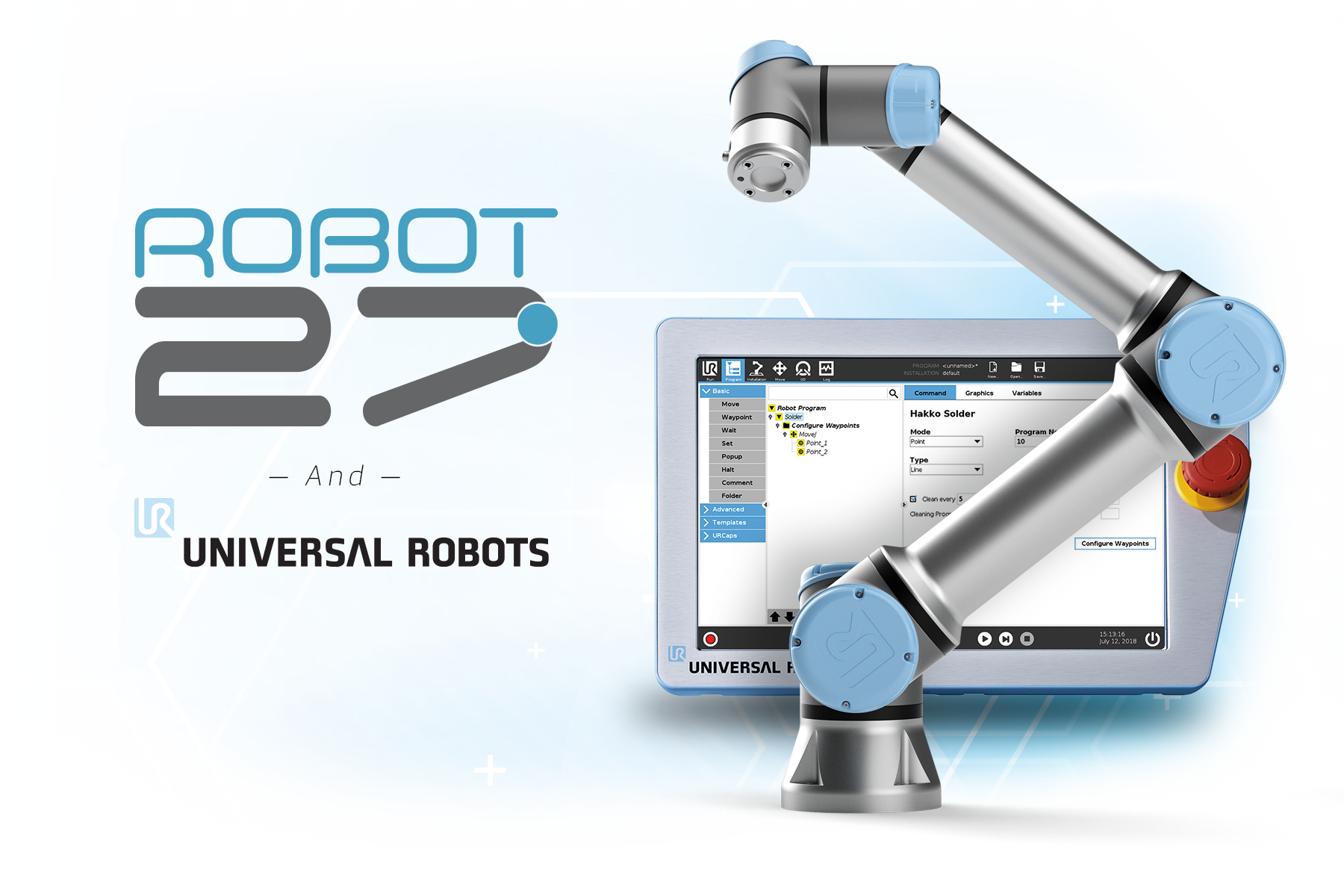 Robot 27 & Universal Robots - Robot arm with programming pad