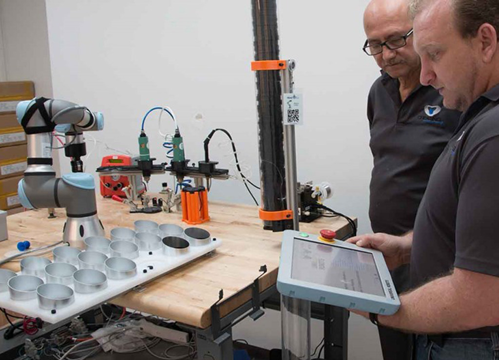 Cobots can perform precision tasks such as pre-soldering and can increase efficiency of the process almost five-fold.